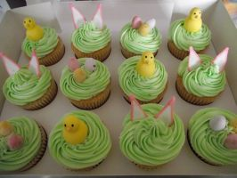 Easter themed cupcakes by MissMarysCakes