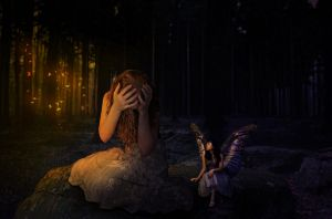 Lost in the Dark Woods by Enlal