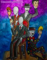 Their Masks_Slender Brothers by crescentshadows19