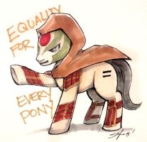 Equality for everypony by slifertheskydragon