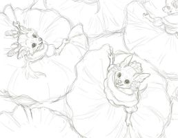 WIP - Cinco De Mayo Sketch for Anthro Calendar by GoldenDruid