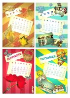 4 Season Calendar by chiquitaf