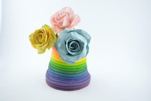 polymer clay roses by claymeeples
