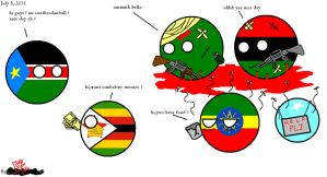Polandball: Welcome, South Sudan ! by DarthReus