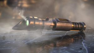 Lightsaber of the fallen consular by CePheala