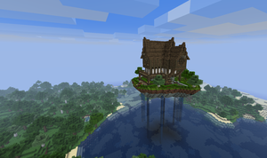 Medieval Houses (Floating island edition) by Pugwis