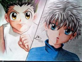 Gon and Killua - Light and Darkness by TrangLuu