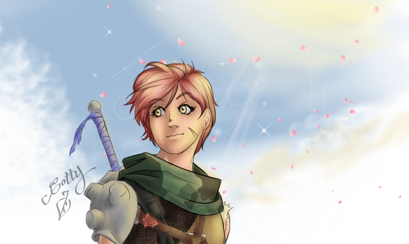 Young Warrior by Cotty-Mellandrir