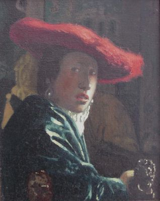 Vermeer Girl in a red hat Copy by OldRobot
