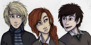Scorpius, Rose and Albus by Deesney