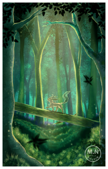 Leafeon's Forest by MarcellenNeppel