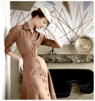 Ivy Nicholson in Jacques Fath 1954 by BooBooGBs