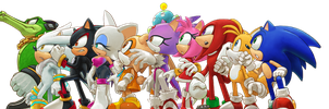 Personajes de Sonic Jump by IsraeltheHedgehog