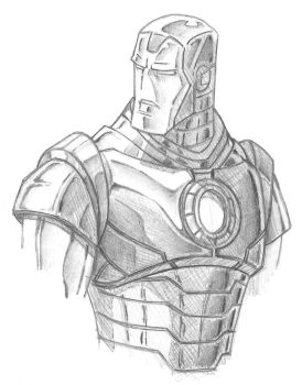 Ironman Bust Sketch by TonyZeller-614
