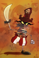 Razorbeard, mighty pirate by Bummerdude