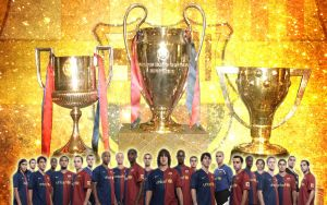 FC Barcelona - Tricampions by Lord-Iluvatar
