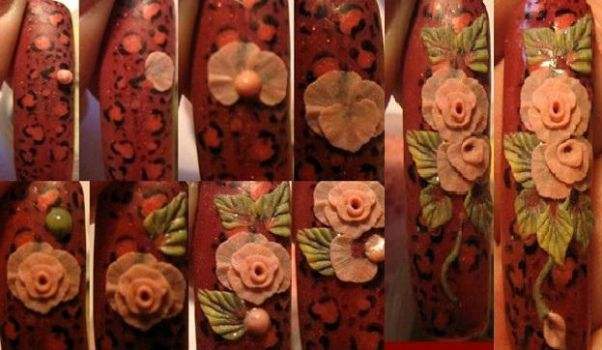 acrylic roses 'step by step' by asiok666