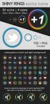 Shiny Rings Social Icons by SimekOneLove