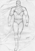 Sketch Superman by leonartgondim