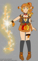 [CLOSED] Adoptable: Autumn Elf- Earth Mage by izka197