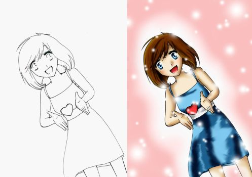 Girl with Heart - Start and End by Gaddai