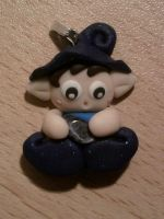 Elf with a little real stone fimo by bimbalove81