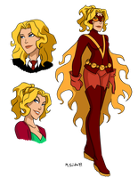 Young Justice Flamebird by msciuto