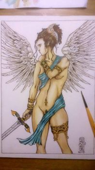 Watercolor Angel by Solanum80