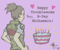 Happy B-Day Shikamaru by darkwater-pirate