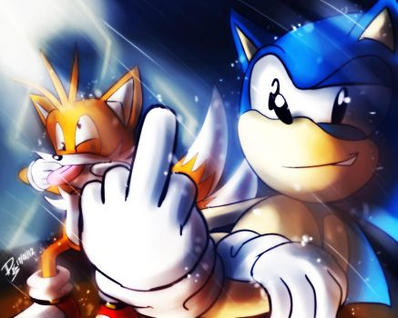 One Hour Sonic 006 - Sonic and Tails by ElsonWong