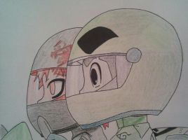 Chibi Gaara and Rock Lee Racing by Britney151