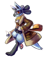 Scholary Lucario Explorer by Haychel