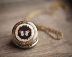 Butterfly pocket watch by BeautySpotCrafts