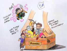 Avengers in a box by whatnameshouldigive