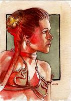 Slave Leia Mini Painting by kohse