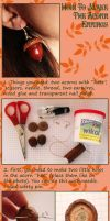 Acorn earrings tutorial by GloomySisterhood