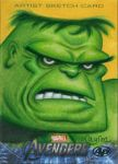 Upper Deck Avengers movie sketch card The Hulk AP by DeJarnette