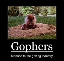 Gopher motivational poster by Sheelal416