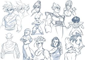 Compilation of sketches DBZ by alanscampos