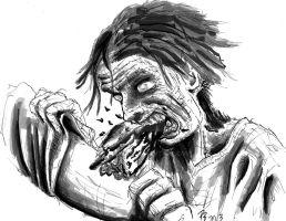 Munching Zombie by Braendis