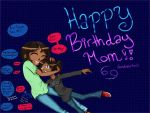 Birthday drawing for mom :D by Miss-Jazzmatazz
