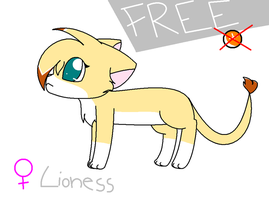 FREE lioness adoptable closed by MillyTheTigerKitten