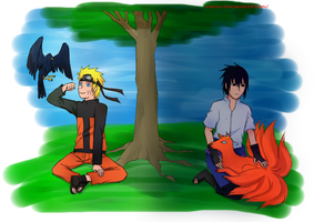 SasuNaru :a day without a night: by unknow-chan