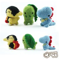 Pokemon Johto Region Starters Amigurumi by mengymenagerie