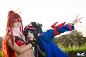 Yoko and Simon - Tengen Toppa Gurren Lagann by MiciaGlo