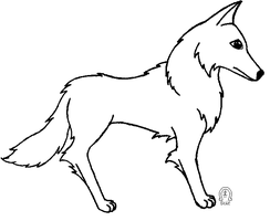 Wolf Lineart by AnScathMarcach
