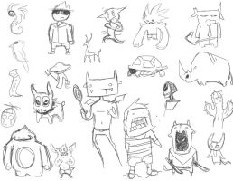 Iconic Character Sketch Dump by King-Kandie