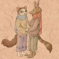 The Kangaroo and the Cat by Bailiwick