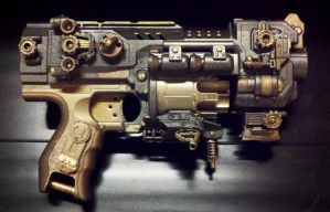 The Gatekeeper- Retrofuturistic Gun by KingMakerCustoms