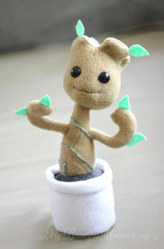 Chibi Baby Groot plush toy by MyBeautifulMonsters